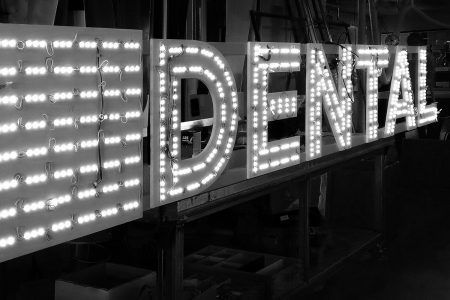 WTC Dental Channel Letter Sign